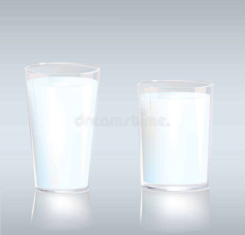 Schalen Milch lizenzfreie abbildung
