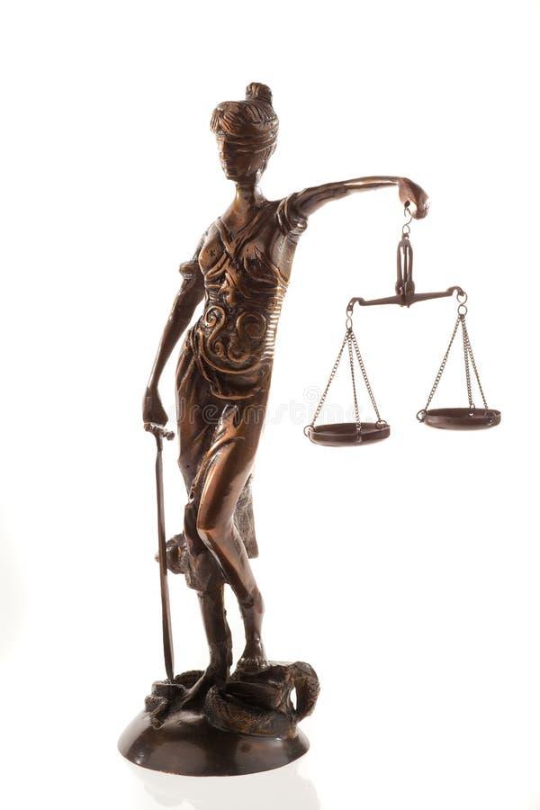 Schalen van het Beeldhouwwerk van de Rechtvaardigheid royalty-vrije stock afbeelding