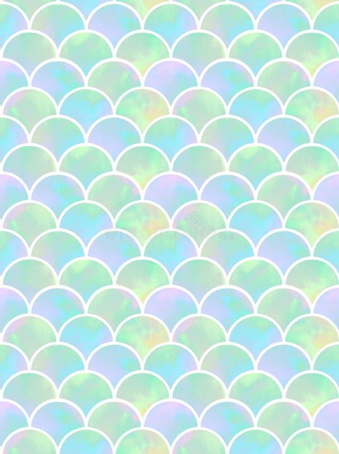 Schalen van meermin naadloos patroon royalty-vrije illustratie