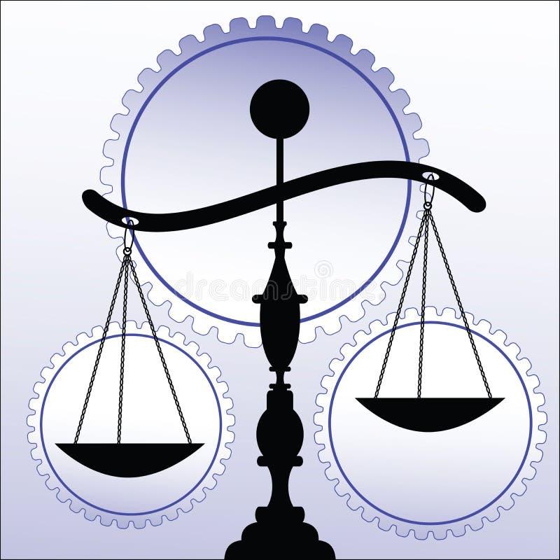 Schalen van rechtvaardigheid royalty-vrije illustratie
