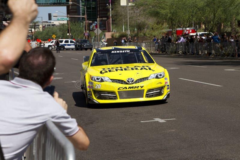 Schalen-Verfolgungsfahrer Matt Kenseth NASCAR Sprint lizenzfreie stockfotos
