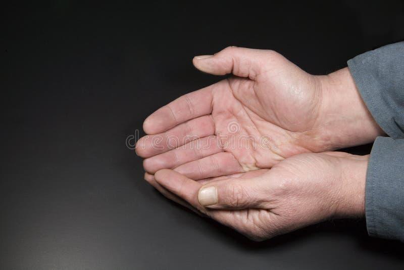 Schalenförmige Hände lizenzfreie stockbilder