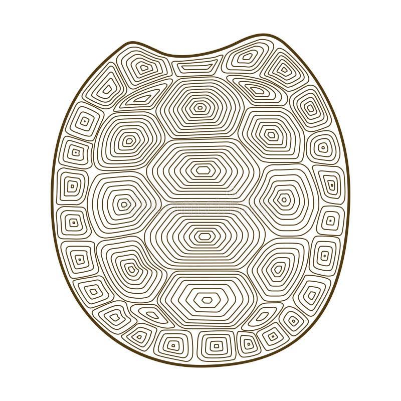 Schalenschildkröte Zen Tangle Malbuch mit Oberteilschildkröte stock abbildung