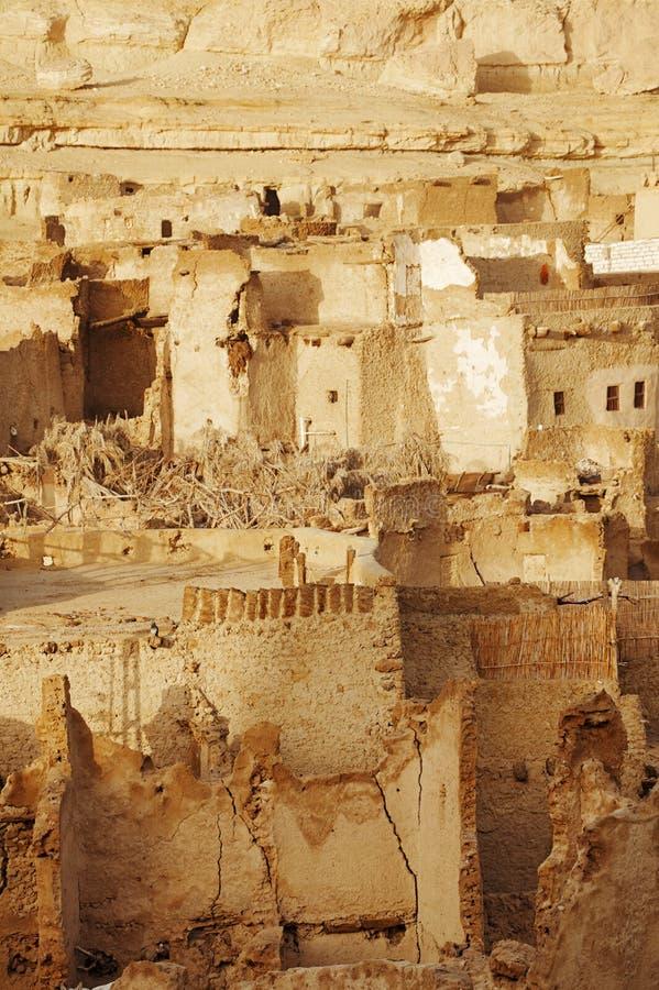 Schali (Shali) de oude Stad van Siwa stock fotografie