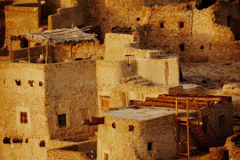 Schali (Shali) den gamla staden av Siwa arkivfoton