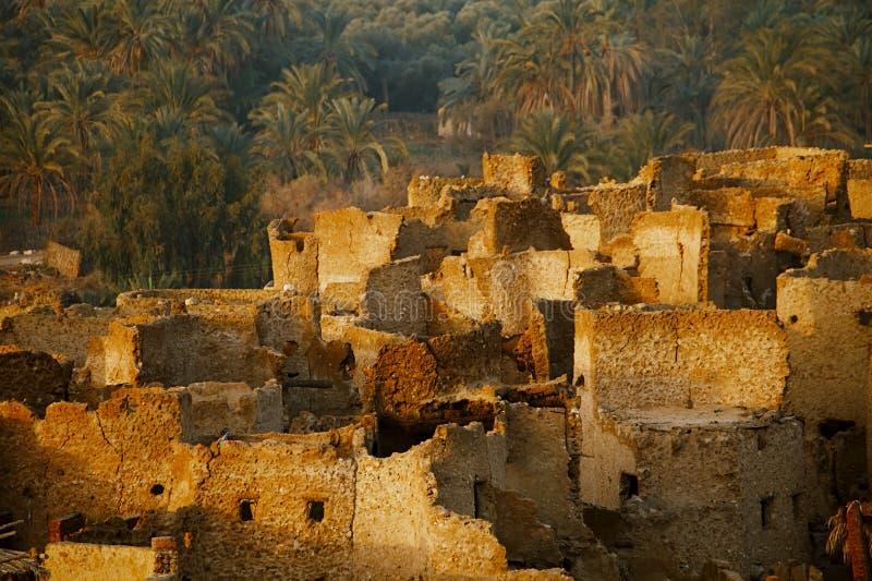 Schali (Shali) la vecchia città di Siwa fotografia stock libera da diritti
