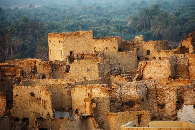 Schali (Shali) la vecchia città di Siwa immagine stock libera da diritti