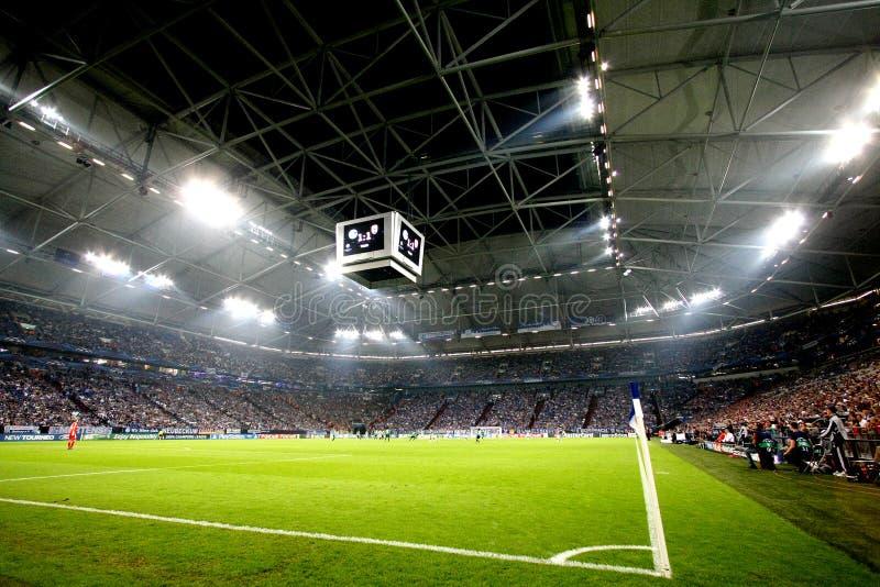 Schalke contra la liga de los campeones del PAOK fotos de archivo
