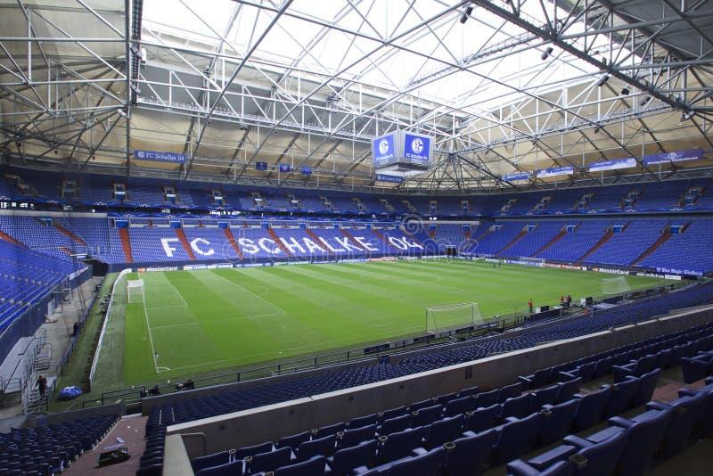 Schalke contra la liga de los campeones del PAOK imagen de archivo libre de regalías
