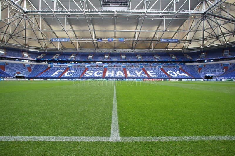Schalke contra la liga de los campeones del PAOK foto de archivo libre de regalías