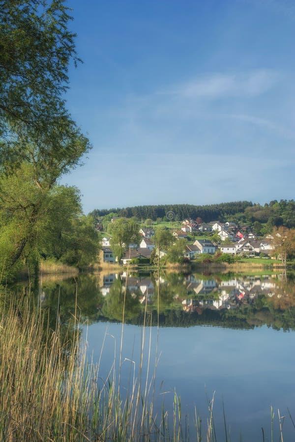 Schalkenmehren, Eifel, Rheinland-Pfalz, Deutschland stockbilder