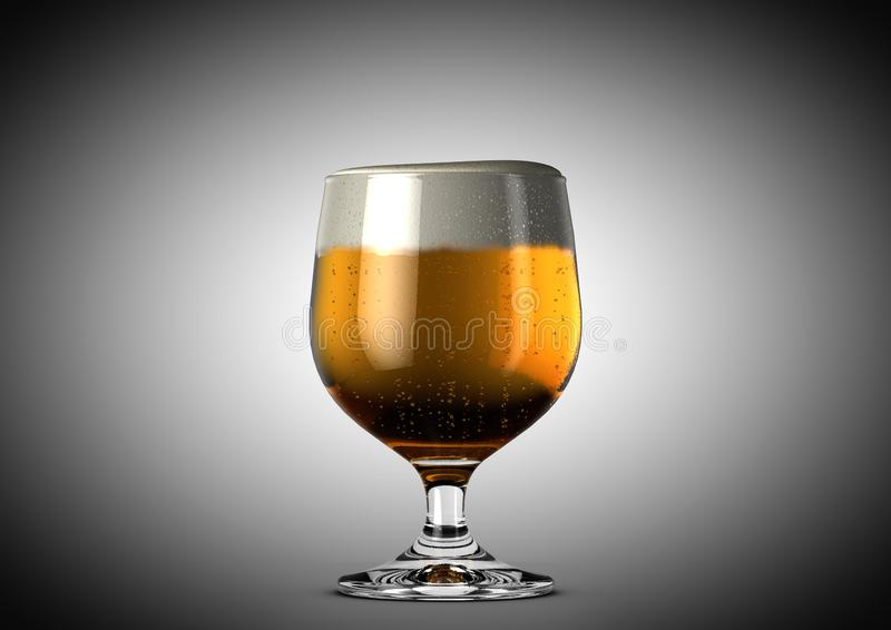 Schallkanonen-Bier-halbes Liter stock abbildung