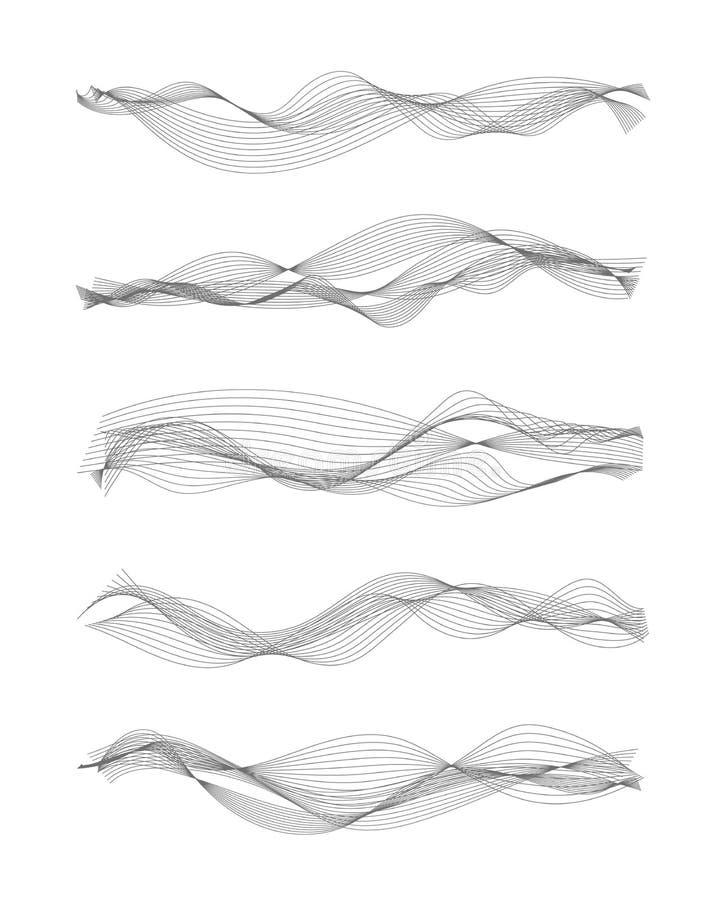 Schallwellen der Vektormusik vektor abbildung