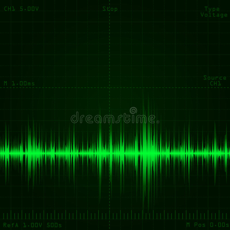 Schallwellesignal stock abbildung