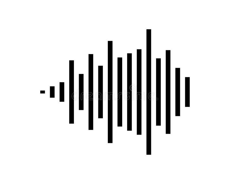 Schallwellevektorillustration vektor abbildung