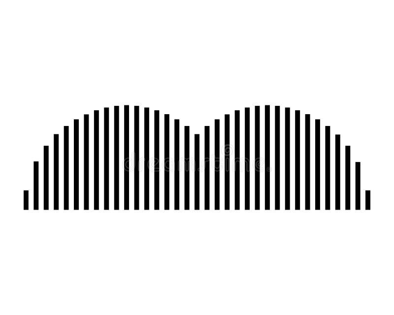 Schallwellevektorillustration stock abbildung