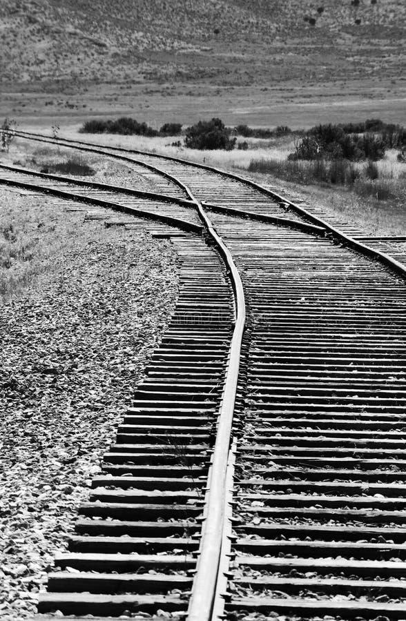 Schalten Sie in Bahnstrecke stockbilder