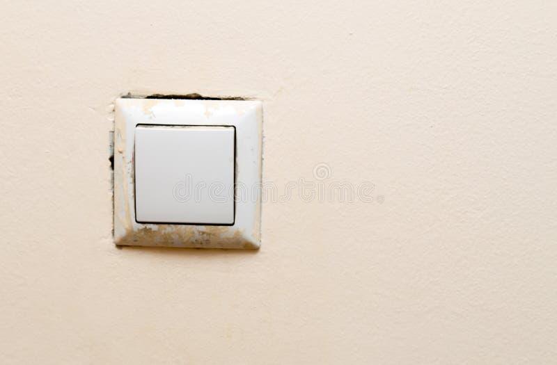 Schalten Sie die Wand als Hintergrund an stockfoto