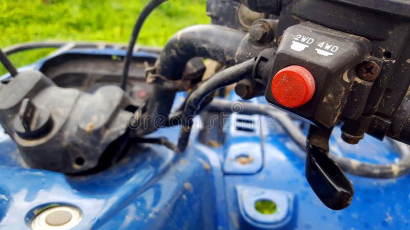 Schalter des Knopfes 4wd lizenzfreies stockfoto