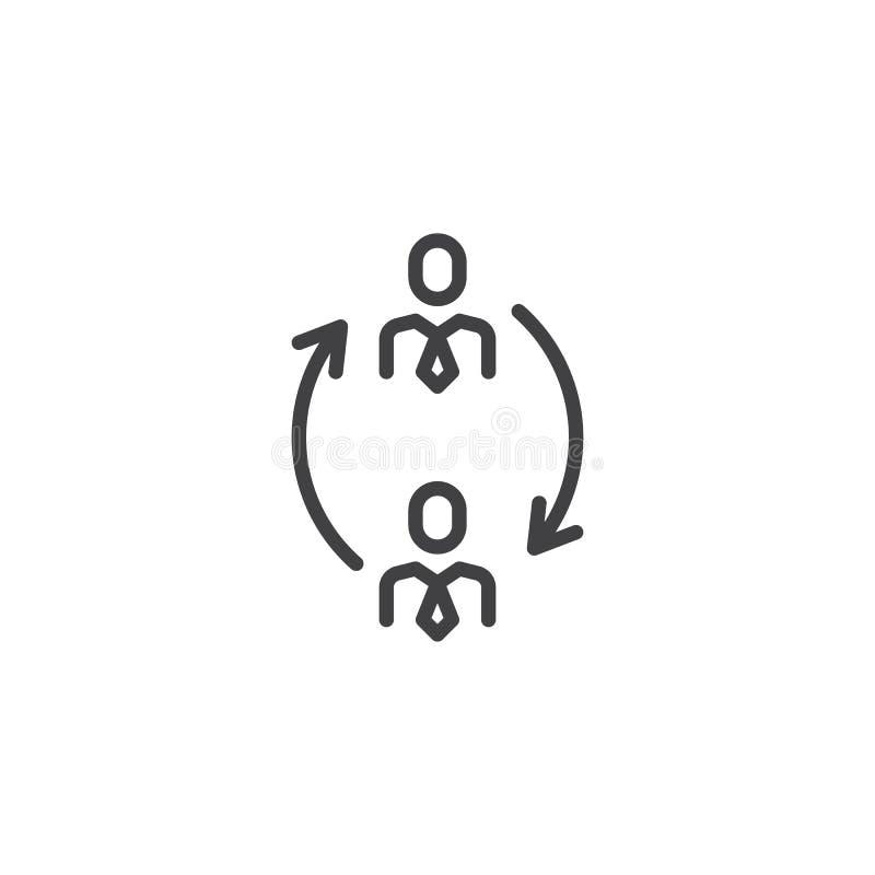 Schalterpersonal, Änderungsmanagementlinie Ikone lizenzfreie abbildung