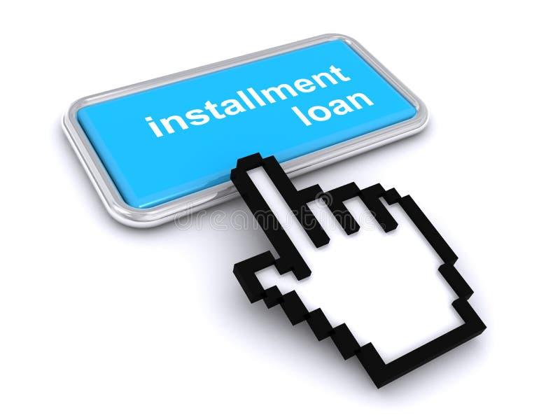 Schaltfläche 'Darlehen installieren' stock abbildung