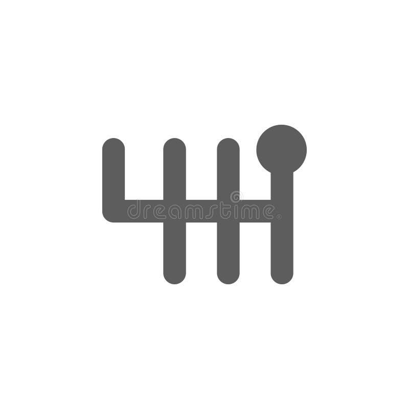Schaltgetriebeikone Elemente der Autoreparaturikone Erstklassiges Qualitätsgrafikdesign Zeichen, Entwurfssymbol-Sammlungsikone fü stock abbildung