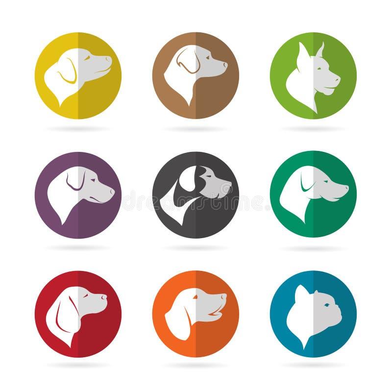 Schaltgruppe des Hundes im Kreis lizenzfreie abbildung