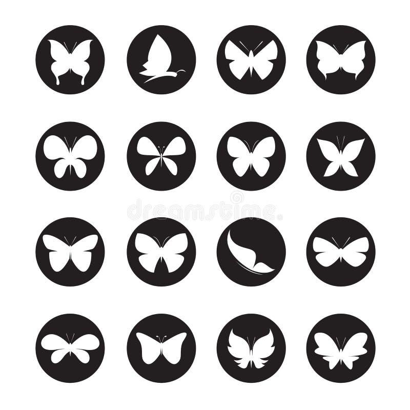 Schaltgruppe Schmetterlinge im Kreis vektor abbildung