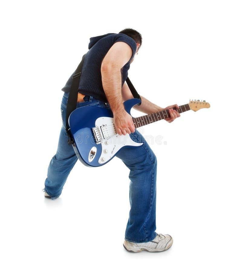 Schalthebel, der Gitarre spielt lizenzfreie stockfotos
