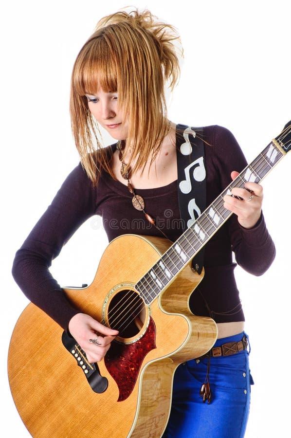 Schalthebel mit Akustikgitarre lizenzfreies stockfoto