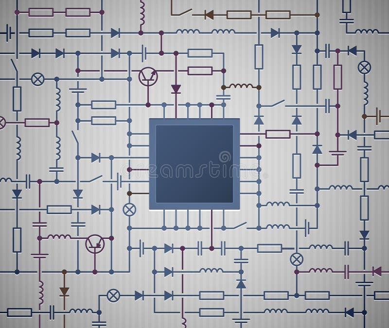 Schaltplan vektor abbildung. Illustration von computer - 25105371
