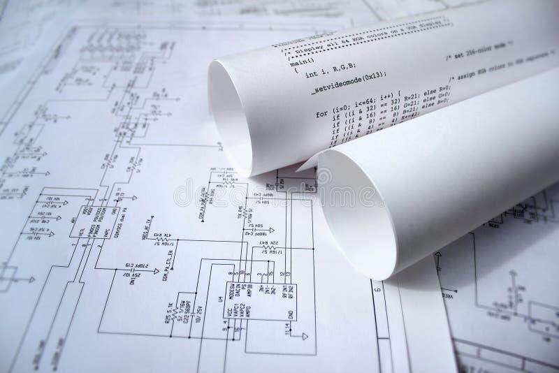 Schaltplan und Software stockfoto. Bild von beweglich - 14898866