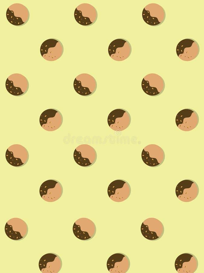 Schamlose Butterplätzchen bedecken mit Schokolade und Mandeln stock abbildung