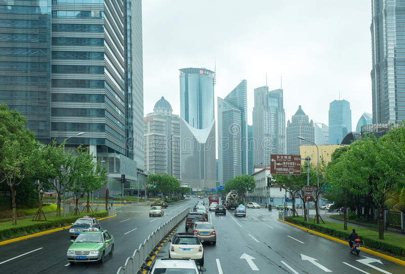 Schang-Hai, Pudong immagini stock