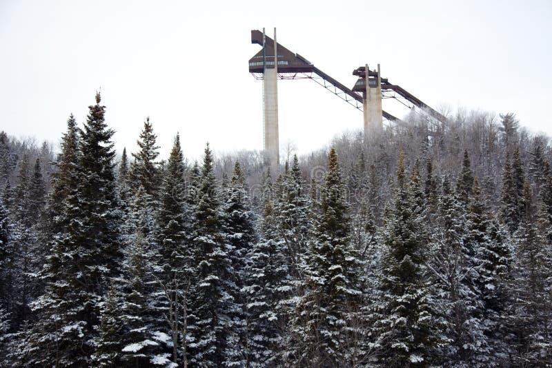 Schans torens bij het Olympische dorp van het Lake Placid royalty-vrije stock afbeelding