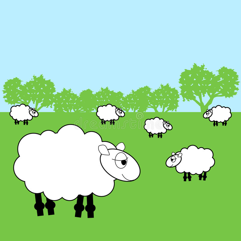 Schapen vector illustratie