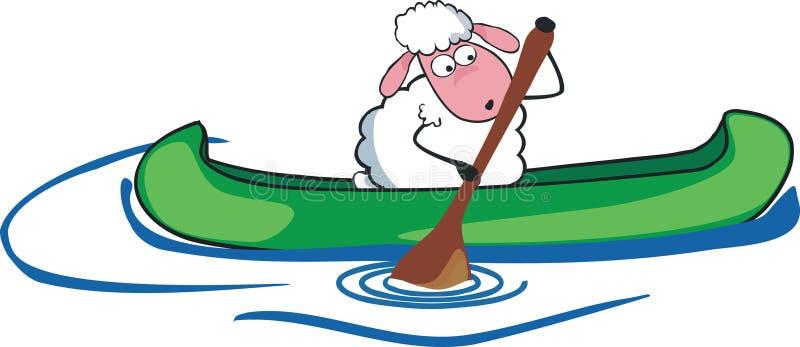 Schapen in kano stock illustratie