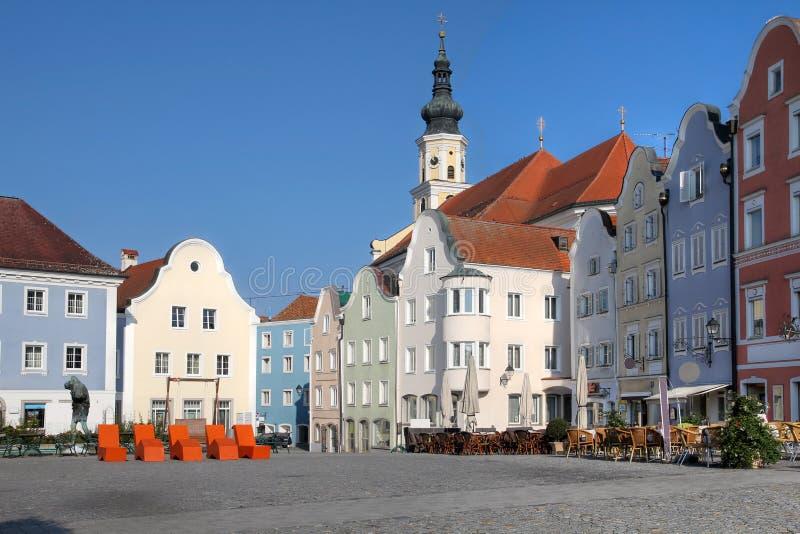 Scharding, Áustria fotografia de stock