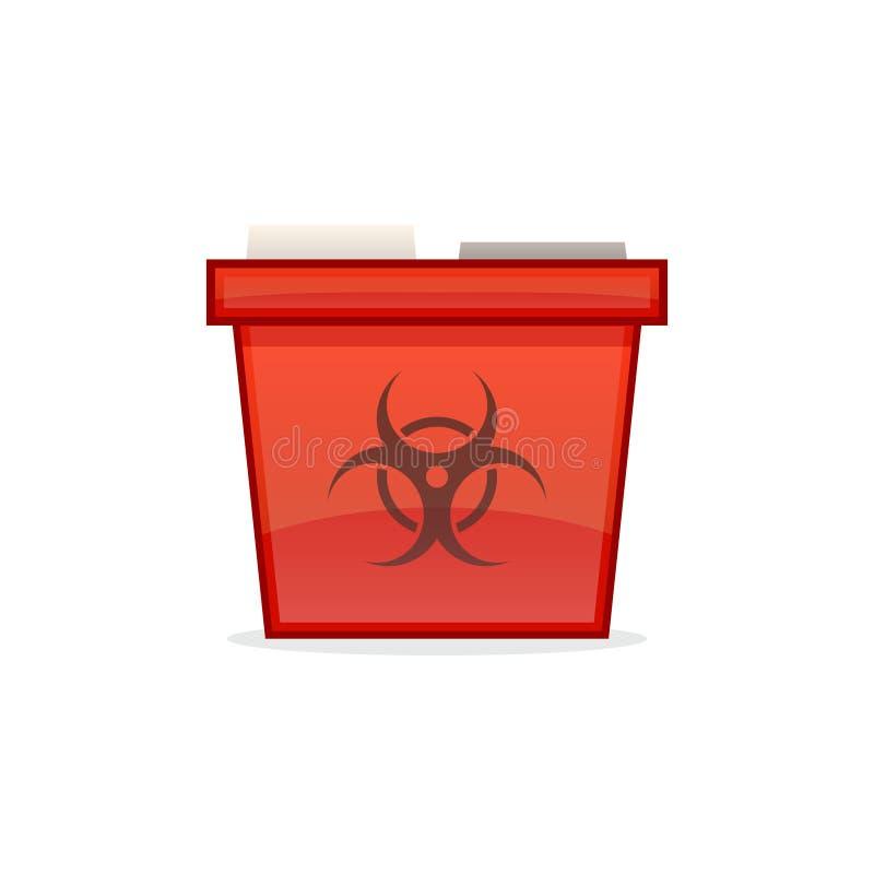 Scharfe Behälter-Ikone stock abbildung