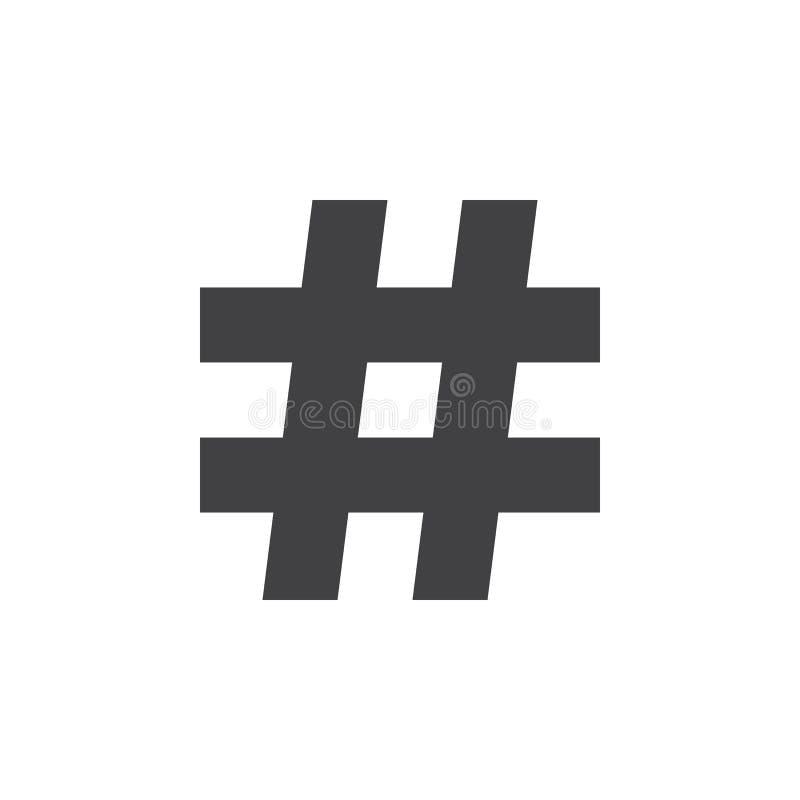 Download Scharfes Zeichen Der Musik, Hashtag Ikone, Feste Logoillustration, Stock Abbildung - Illustration von sozial, getrennt: 90234359