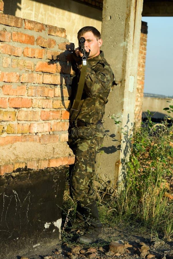 Scharfschütze stockfoto