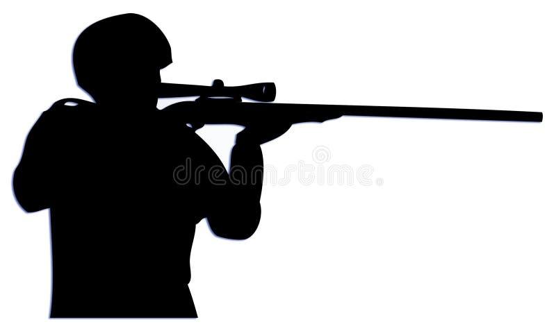Scharfschütze lizenzfreie abbildung