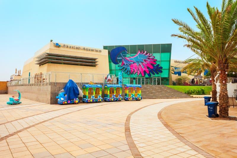 Scharjah-Aquarium, Arabische Emirate lizenzfreie stockfotografie