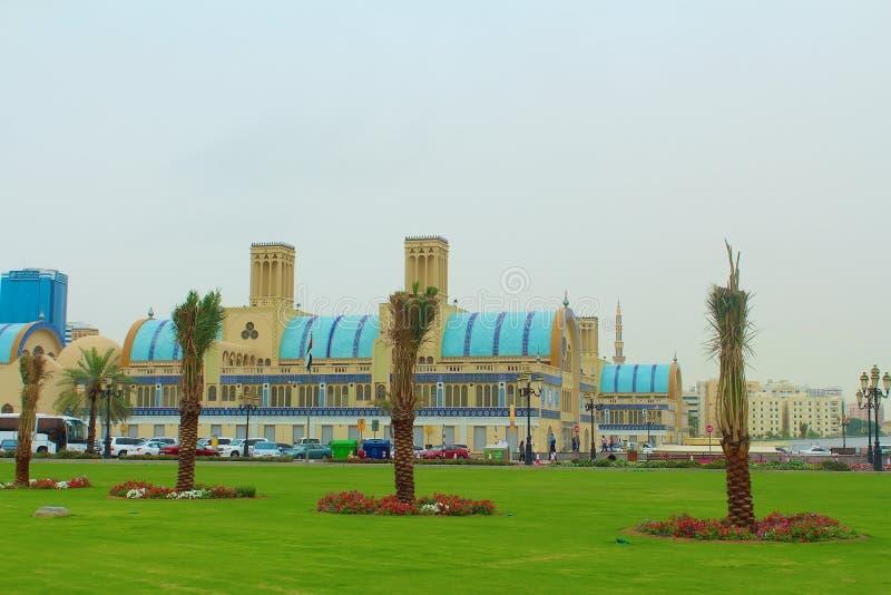 Scharjah, Vereinigte Arabische Emirate Das zentrale Souk, anders als blaues souk Souk oder des Goldes - Markt in Scharjah lizenzfreie stockbilder
