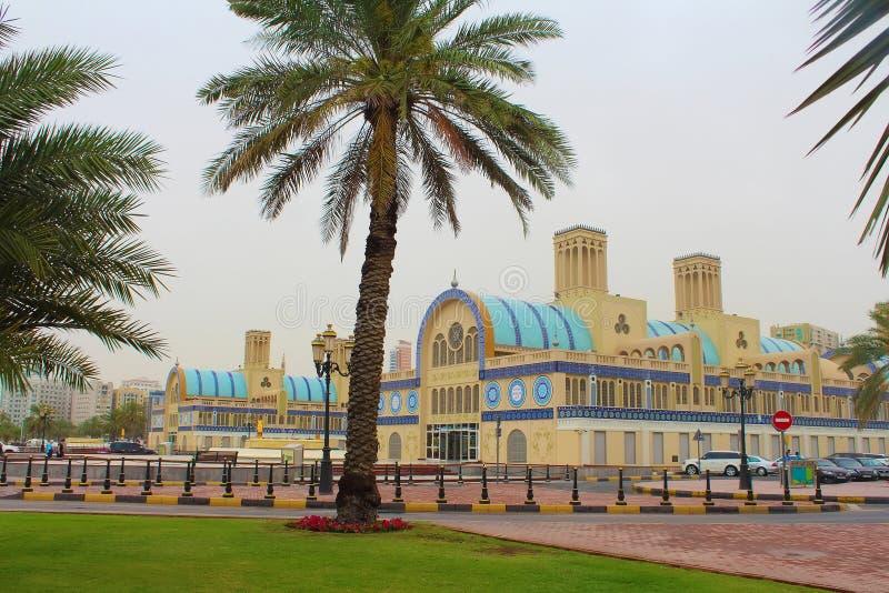 Scharjah, Vereinigte Arabische Emirate Das zentrale Souk lizenzfreies stockbild