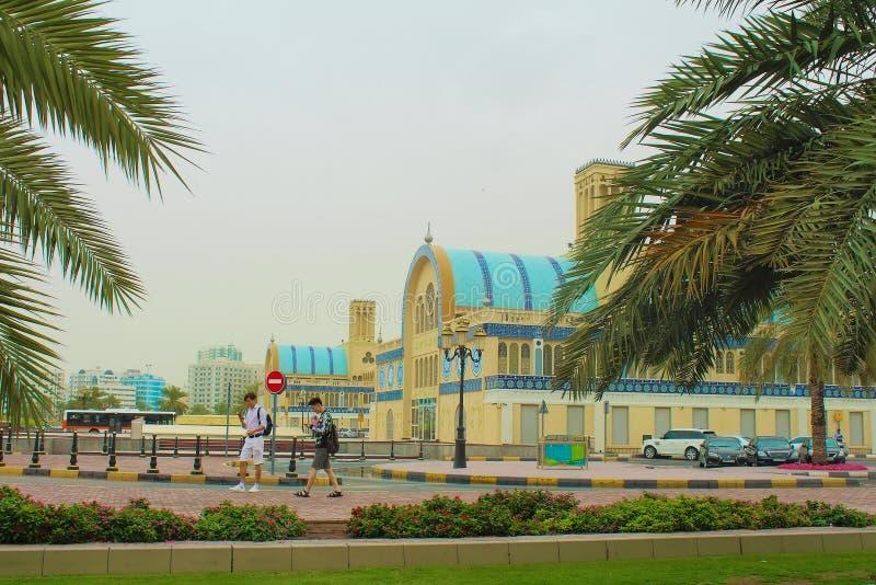 Scharjah, Vereinigte Arabische Emirate Das zentrale Souk lizenzfreie stockfotografie