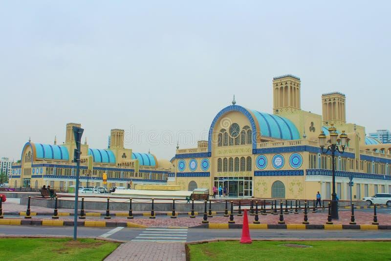 Scharjah, Vereinigte Arabische Emirate Das zentrale Souk lizenzfreie stockfotos