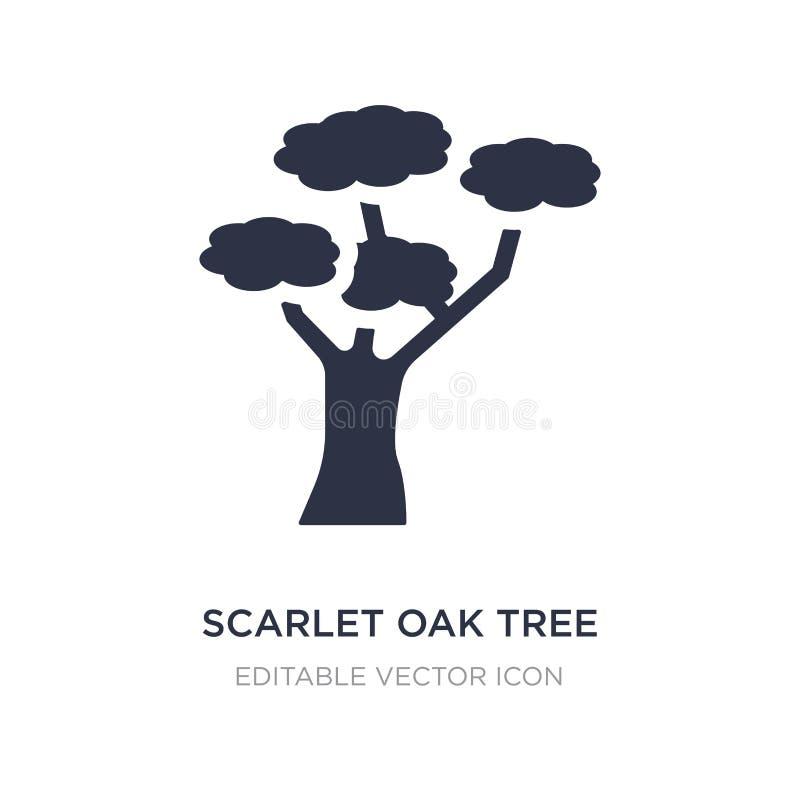 scharlaken eiken boompictogram op witte achtergrond Eenvoudige elementenillustratie van Aardconcept royalty-vrije illustratie