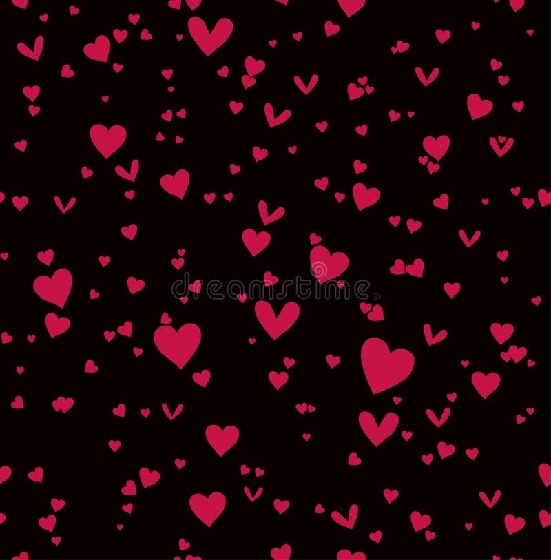 Scharlaken harten naadloos patroon royalty-vrije illustratie