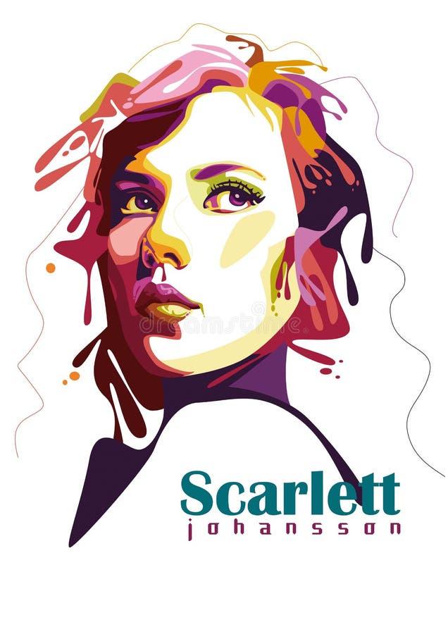 Scharlaken Johansson vector illustratie